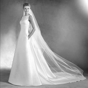 Pronovias Atelier Elma mikado wedding dress
